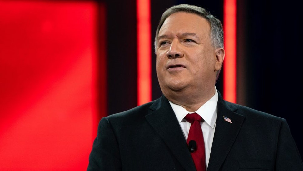 Michael Pompeo, former U.S. Secretary of State, speaks during the Conservative Political Action Conference (CPAC) in Orlando, Florida, U.S., on Saturday, Feb. 27, 2021. Donald Trump will speak at the annual Conservative Political Action Campaign conference in Florida, his first public appearance since leaving the White House, to an audience of mostly loyal followers.