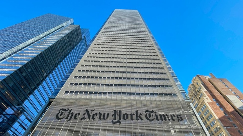 The New York Times Building is seen in New York City on February 4, 2021.