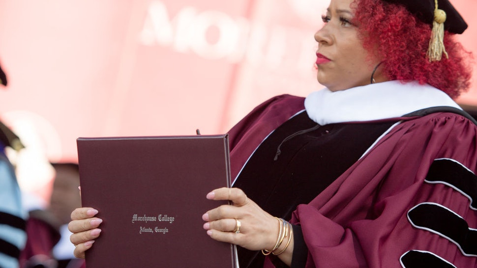 ATLANTA, GEORGIA - MAY 16: Author Nikole Hannah-Jones attends the 137th Commencement at Morehouse College on May 16, 2021 in Atlanta, Georgia.