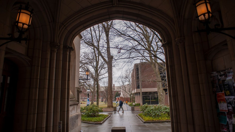 PRINCETON, NJ - FEBRUARY 04: A man walks on campus at Princeton University on February 4, 2020 in Princeton, New Jersey. The university said over 100 students, faculty, and staff who recently traveled to China must 'self-isolate' themselves for 14 days to contain any possible exposure to the novel coronavirus.