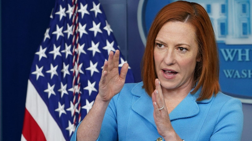 White House Press Secretary Jen Psaki holds a press briefing in the Brady Briefing Room of the White House in Washington, DC on June 2, 2021.