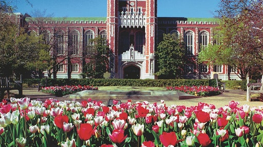 NORMAN, OK - CIRCA 2007: Close up view of the Bizzell Memorial Library on the University of Oklahoma campus in Norman, Oklahoma.
