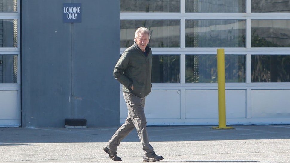 LOS ANGELES, CA - FEBRUARY 11: Harrison Ford is seen on February 11, 2021 in Los Angeles, California. (Photo by