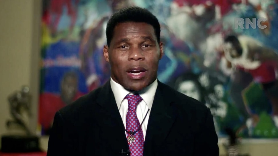Republicans Hold Virtual 2020 National Convention CHARLOTTE, NC - AUGUST 24: (EDITORIAL USE ONLY) In this screenshot from the RNC's livestream of the 2020 Republican National Convention, former NFL athlete Herschel Walker addresses the virtual convention on August 24, 2020. The convention is being held virtually due to the coronavirus pandemic but will include speeches from various locations including Charlotte, North Carolina and Washington, DC. (Photo Courtesy of the Committee on Arrangements for the 2020 Republican National Committee via Getty Images) Handout / Handout via Getty Images