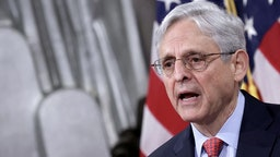 US-JUSTICE-GARLAND US Attorney General Merrick Garland speaks during an event at the Justice Department on June 15, 2021 in Washington, DC. - Garland addressed domestic terrorism during his remarks. (Photo by Win McNamee / POOL / AFP) (Photo by WIN MCNAMEE/POOL/AFP via Getty Images) WIN MCNAMEE / Contributor via Getty Images