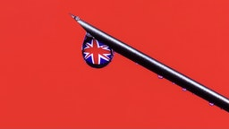 Coronavirus vaccine, COVID-19 in United Kingdom. Global pandemic. - stock photo Close-up syringe with United Kingdom flag in a drop. Coronavirus pandemic concept. Vaccine Anton Petrus via Getty Images
