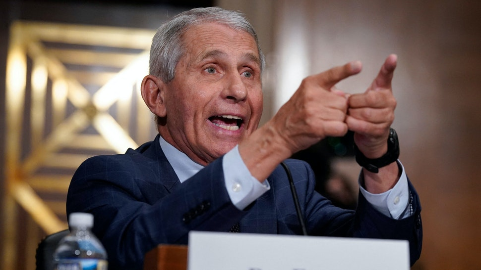 Dr. Anthony Fauci responds to accusations by Sen. Rand Paul, R-KY, as he testifies during the Senate Health, Education, Labor, and Pensions Committee hearing on Capitol Hill in Washington,DC on July 20, 2021.