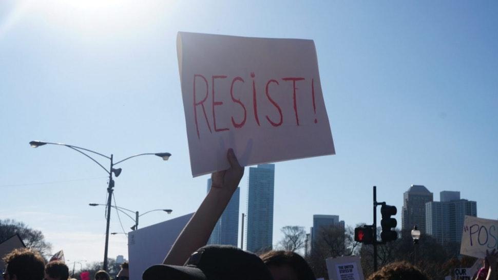 Resist sign.