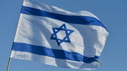 An Israeli national flag seen in Eilat center. On Monday, February 3, 2020, in Eilat, Israel. (Photo by Artur Widak/NurPhoto via Getty Images)