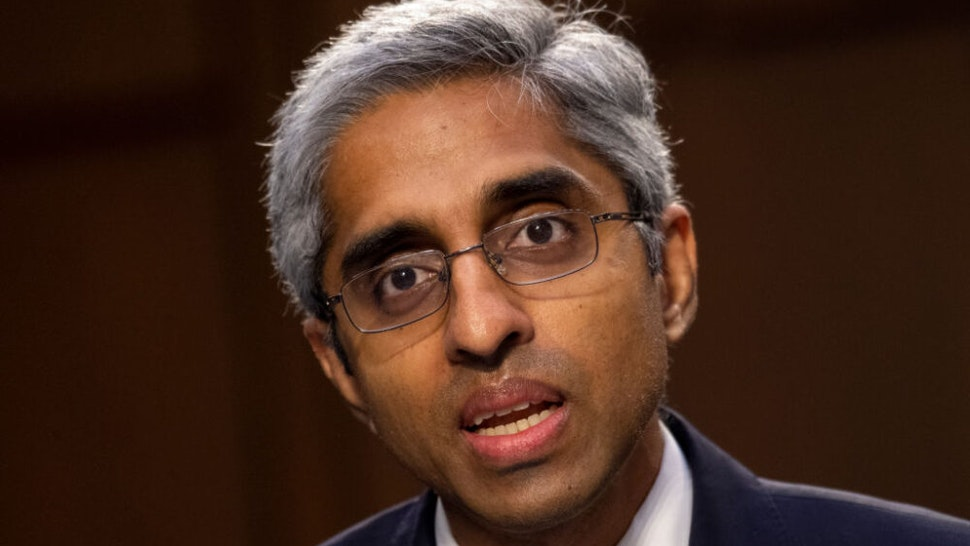 WASHINGTON, DC - FEBRUARY 25: Vivek Murthy, nominee for U.S. Surgeon General, testifies at his confirmation hearing before the Senate Health, Education, Labor, and Pensions Committee February 25, 2021 on Capitol Hill in Washington D.C. Murthy also served as Surgeon General in the Obama and Trump administrations.