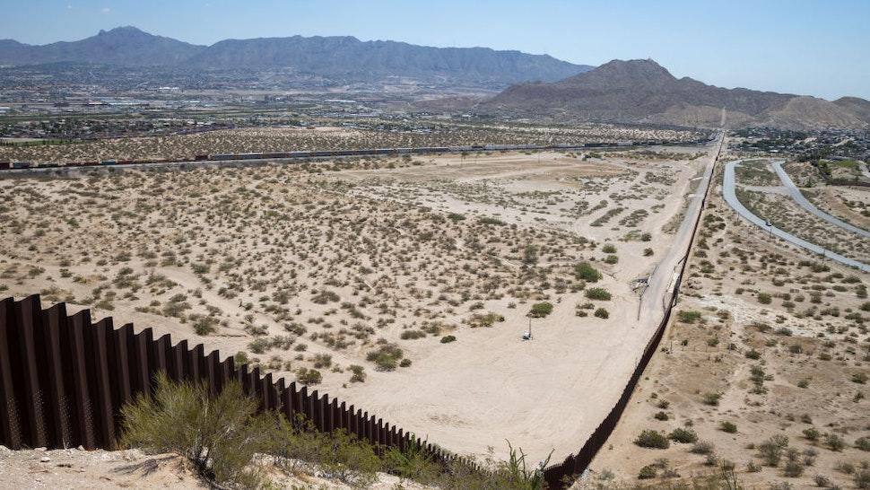 A view of the border through Ciudad Juarez, Mexico, on July 5, 2021.