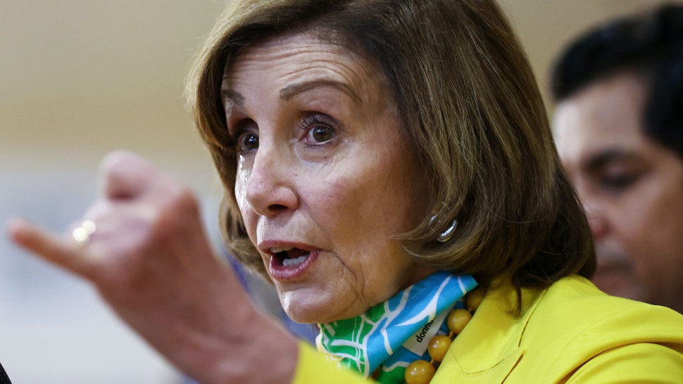 House Speaker Nancy Pelosi (D-CA) speaks at a press conference on the newly expanded Child Tax Credit at the Barrio Action Youth and Family Center on July 15, 2021 in Los Angeles, California.