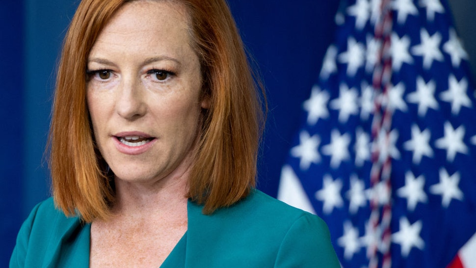 White House Press Secretary Jen Psaki holds the daily press briefing in the Brady Press Briefing Room of the White House in Washington, DC, July 6, 2021. (Photo by SAUL LOEB / AFP) (Photo by SAUL LOEB/AFP via Getty Images)
