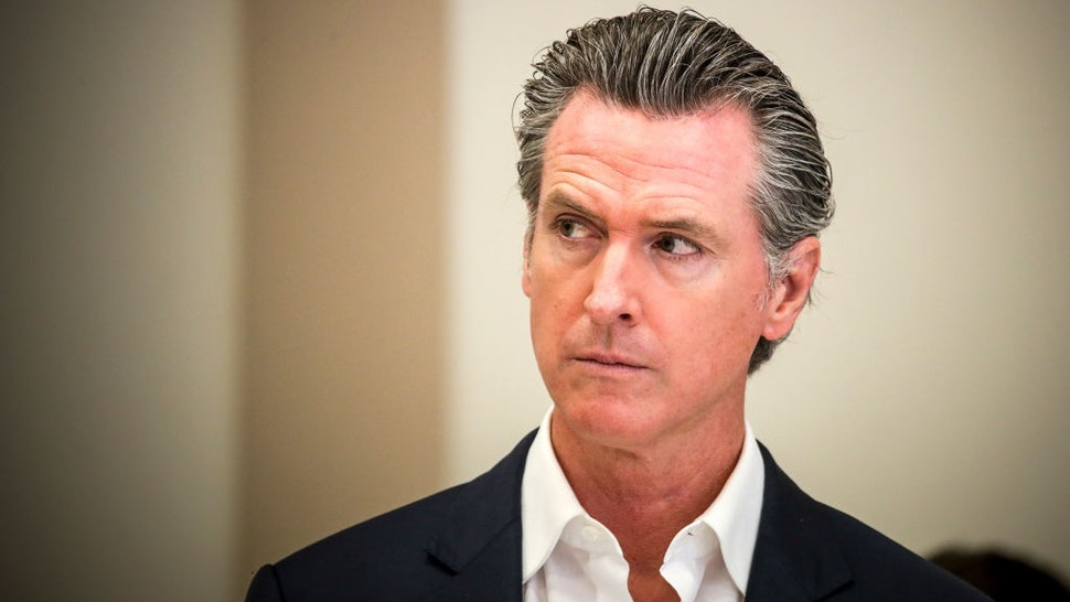 Bell Gardens, CA - July 14: Gov. Gavin Newsom presents the nation's largest rent relief program as Part of the $100 Billion California Comeback Plan.