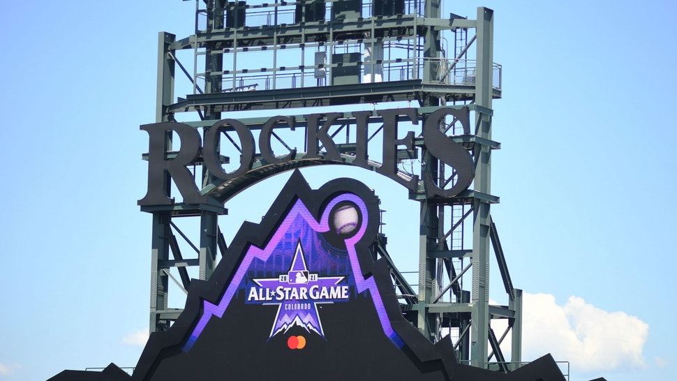 DENVER, COLORADO - JULY 7: Coors Field gets ready for the upcoming MLB All-Star Game on July 7, 2021 in Denver, Colorado.