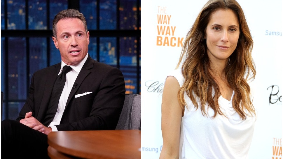 """LATE NIGHT WITH SETH MEYERS -- Episode 867 -- Pictured: (l-r) CNN's Chris Cuomo during an interview with host Seth Meyers on August 1, 2019 & EAST HAMPTON, NY - JUNE 29: Christina Greeven Cuomo attends the after party for a special Hamptons screening of """"The Way,Way Back"""" at Goose Creek on June 29, 2013 in East Hampton, New York."""