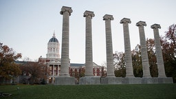 COLUMBIA, MO - NOVEMBER 10: Academic Hall on the campus of University of Missouri - Columbia is seen on November 10, 2015 in Columbia, Missouri. The university looks to get things back to normal after the recent protests on campus that lead to the resignation of the school's President and Chancellor on November 9.