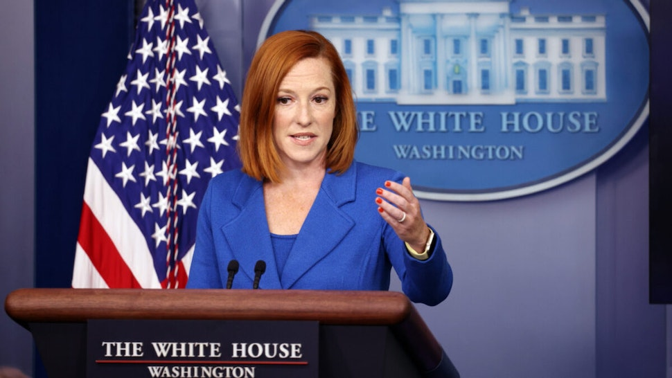 White House Press Secretary Jen Psaki speaks at a press briefing in the James Brady Press Briefing Room of the White House on August 02, 2021 in Washington, DC.