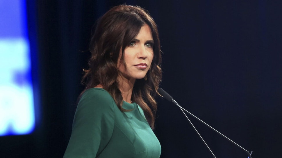 Kristi Noem, governor of South Dakota, pauses while speaking during the Conservative Political Action Conference (CPAC) in Dallas, Texas, U.S., on Sunday, July 11, 2021.