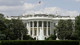 The exterior view of the south side of the White House is seen May 31, 2005 in Washington, DC.