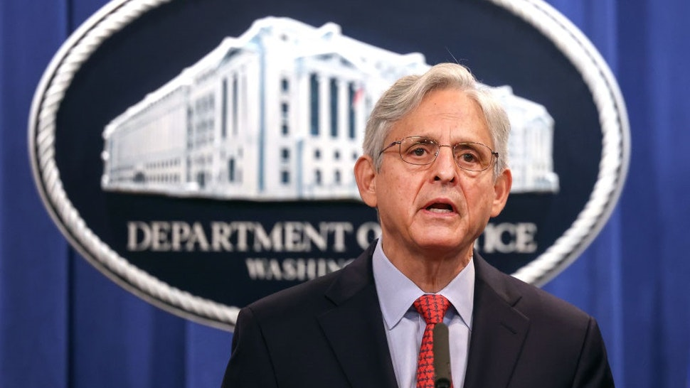 WASHINGTON, DC - AUGUST 05: U.S. Attorney General Merrick Garland announces a federal investigation of the City of Phoenix and the Phoenix Police Department during a news conference at the Department of Justice on August 05, 2021 in Washington, DC.