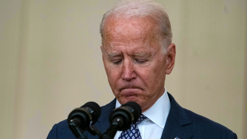 US President Joe Biden speaks about the ongoing US military evacuations of US citizens and vulnerable Afghans, in the East Room of the White House in Washington, DC, on August 20, 2021. - Biden said Friday he has not seen America's allies question US credibility over the conduct of its withdrawal from Afghanistan as the Taliban took over the country.