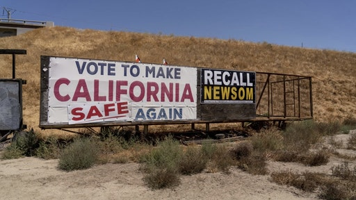 Worst Drought In Decades Escalates Threats Across U.S. West A sign against California Governor Gavin Newsom in Ducor, California, U.S., on Monday, June 21, 2021. Almost three-fourths of the western U.S. is gripped by drought so severe that its off the charts of anything recorded in the 20-year history of the U.S. Drought Monitor. Photographer: Kyle Grillot/Bloomberg via Getty Images Bloomberg / Contributor via Getty Images