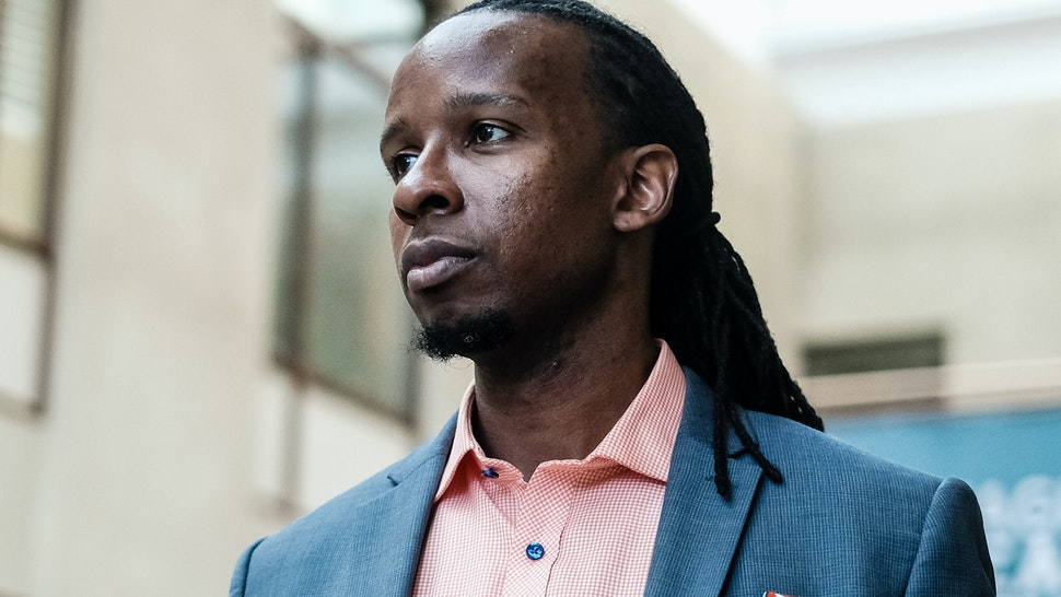 WASHINGTON, US - SEPTEMBER 26: American University professor Dr. Ibram X. Kendi, stands for a portrait at the School of International Service following a panel discussion on his new book How to Be an Antiracist in Washington, DC. Kendis discussion spoke on strategies to identify and overcome racism on September 26, 2019 in Washington, DC. (Michael A. McCoy/For The Washington Post via Getty Images)