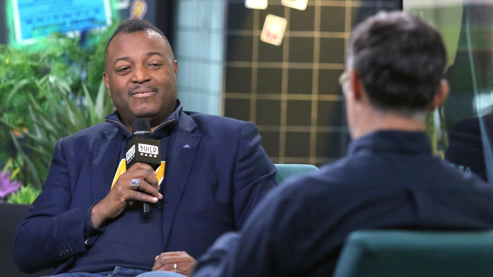 """NEW YORK, NEW YORK - NOVEMBER 14: Author Malcolm Nance (L) and moderator Ricky Camilleri attend the Build Series to discuss his new book """"The Plot To Betray America"""" at Build Studio on November 14, 2019 in New York City. (Photo by Jim Spellman/Getty Images)"""