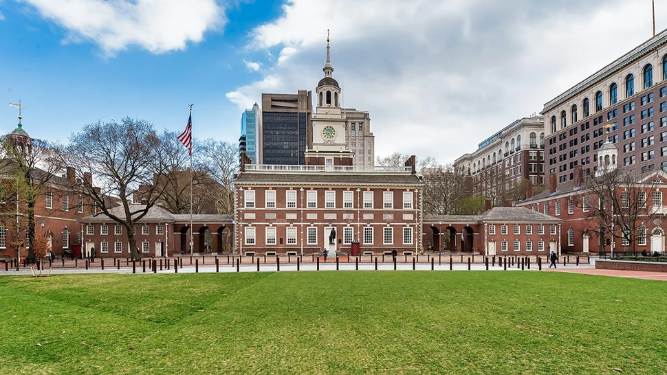 PHILADELPHIA, PA - MARCH 17: Independence Hall is closed to the public due to the coronavirus (COVID-19) outbreak on March 17, 2020 in Philadelphia, Pennsylvania. The tourism and entertainment industries have been hit hard by restrictions in response to the outbreak of COVID-19. (Photo by