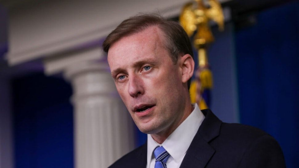 WASHINGTON, USA - AUGUST 23: Jake Sullivan, US President Joe Bidenâs national security advisor holds a press conference on developments in Afghanistan, in the James Brady Press Briefing Room of the White House on August 23, 2021 in Washington, DC, United States.