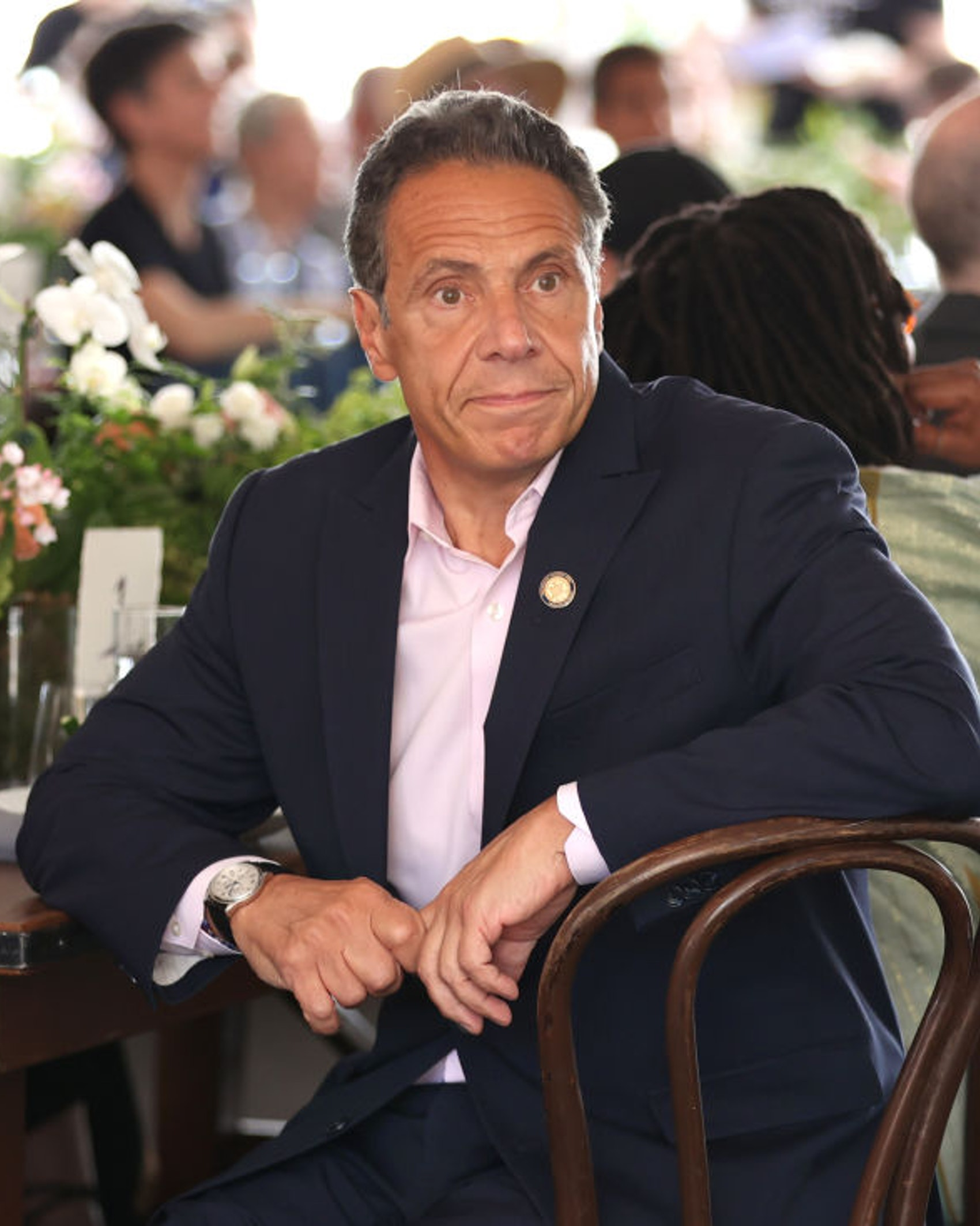 Governor of New York Andrew Cuomo attends the Tribeca Festival Welcome Lunch during the 2021 Tribeca Festival at Pier 76 on June 09, 2021 in New York City.