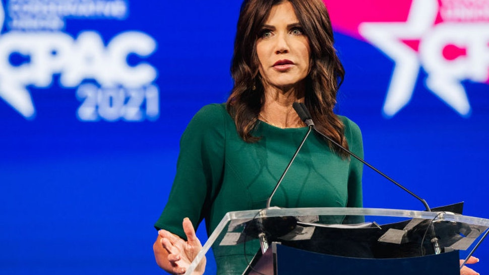 South Dakota Gov. Kristi Noem speaks during the Conservative Political Action Conference CPAC held at the Hilton Anatole on July 11, 2021 in Dallas, Texas.