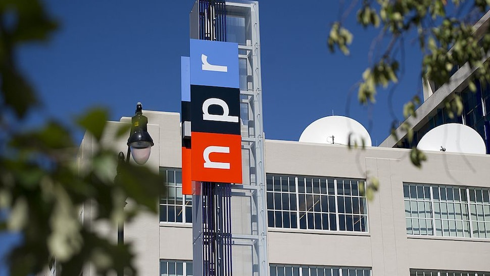 The headquarters for National Public Radio, or NPR, are seen in Washington, DC, September 17, 2013. The USD 201 million building, which opened in 2013, serves as the headquarters of the media organization that creates and distributes news, information and music programming to 975 independent radio stations throughout the US, reaching 26 million listeners each week. AFP PHOTO / Saul LOEB (Photo credit should read SAUL LOEB/AFP via Getty Images)