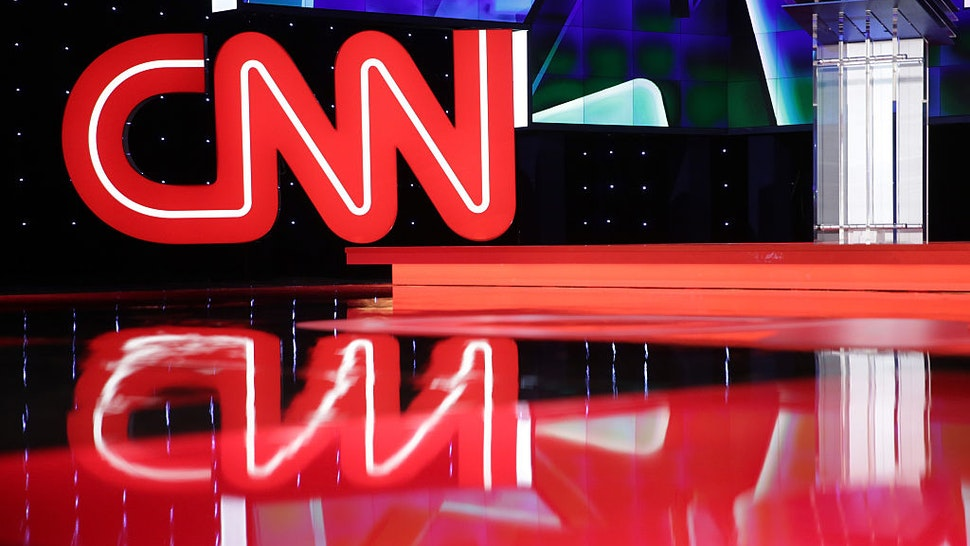 LAS VEGAS, NV - OCTOBER 13: A general view shows the stage during a walk-through before a Democratic presidential debate sponsored by CNN and Facebook at Wynn Las Vegas on October 13, 2015 in Las Vegas, Nevada. Five Democratic presidential candidates are scheduled to participate in the party's first presidential debate. (Photo by Alex Wong/Getty Images)