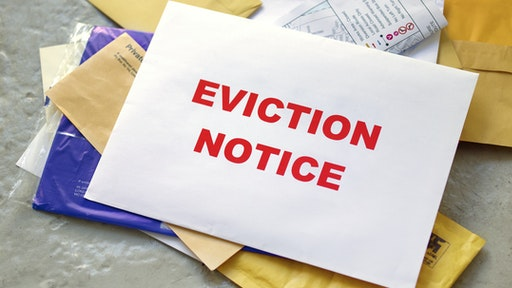Eviction notice in the post - stock photo