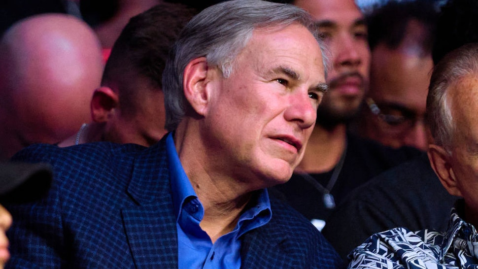 HOUSTON, TEXAS - AUGUST 07: Governor of Texas Greg Abbott is seen in attendance during the UFC 265 event at Toyota Center on August 07, 2021 in Houston, Texas. (Photo by Cooper Neill/Zuffa LLC)