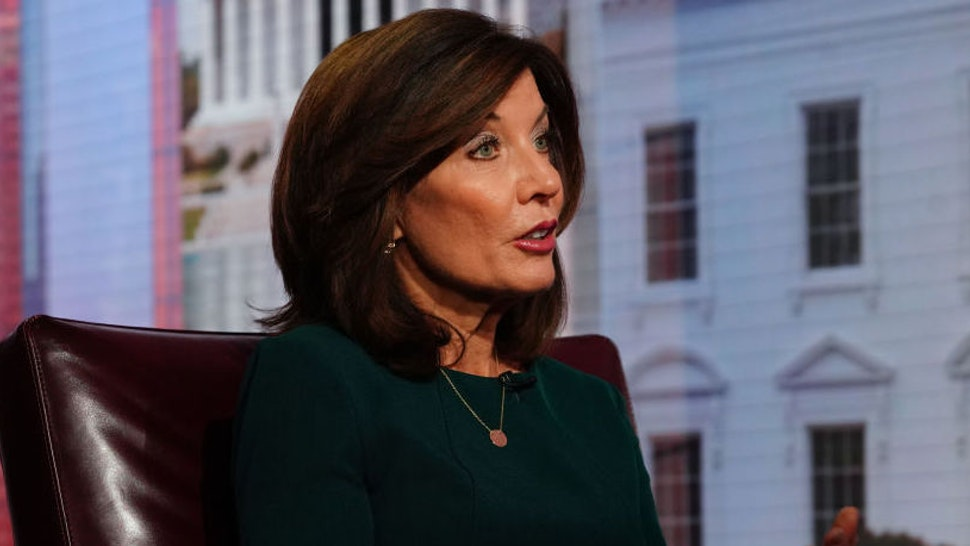 Kathy Hochul, lieutenant governor of New York, speaks during a Bloomberg Television interview in New York, U.S., on Thursday, Dec. 12, 2019. Hochul discussed her role in transforming the state's economy.