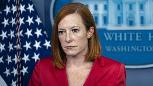 Jen Psaki, White House press secretary, during a news conference in the James S. Brady Press Briefing Room at the White House in Washington, D.C., U.S., on Thursday, Aug. 5, 2021. The Biden administration's decision to give renters affected by the worsening pandemic a two-month eviction reprieve risks pushing a housing crisis into the fall if states fail to accelerate distribution of billions in rent relief.