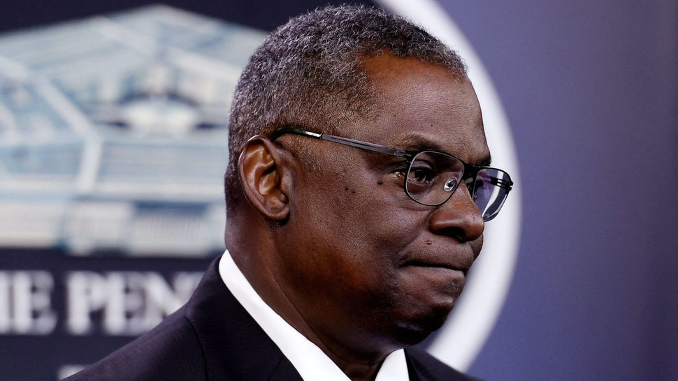 US Defense Secretary Lloyd Austin holds a press conference on July 21, 2021, at The Pentagon in Washington, DC.
