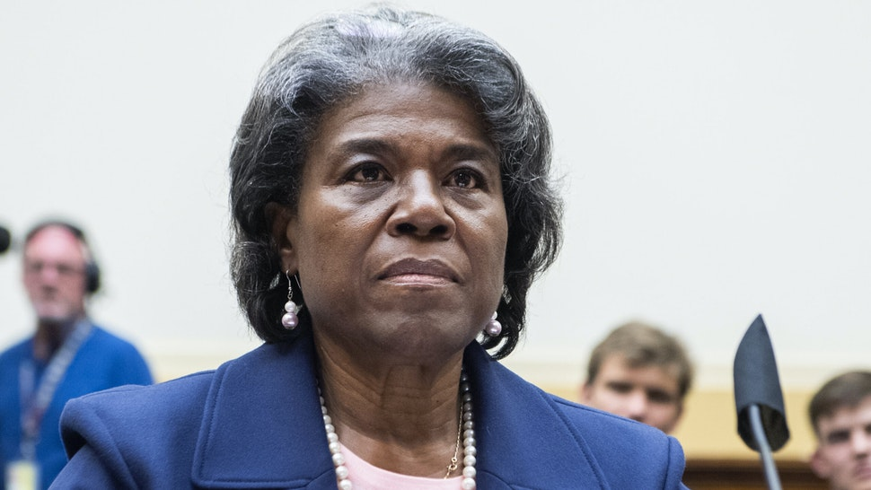 UNITED STATES - JUNE 16: Linda Thomas-Greenfield, U.N. ambassador, testifies during the House Foreign Affairs Committee hearing titled The Biden Administration's Priorities for Engagement with the United Nations, in Rayburn Building on Wednesday, June 16, 2021.