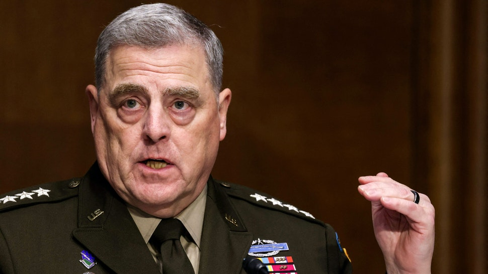Chairman of the Joint Chiefs of Staff Gen. Mark Milley testifies before a Senate Committee on Appropriations hearing on the 2022 budget for the Defense Department, on Capitol Hill in Washington, DC, June 17, 2021.