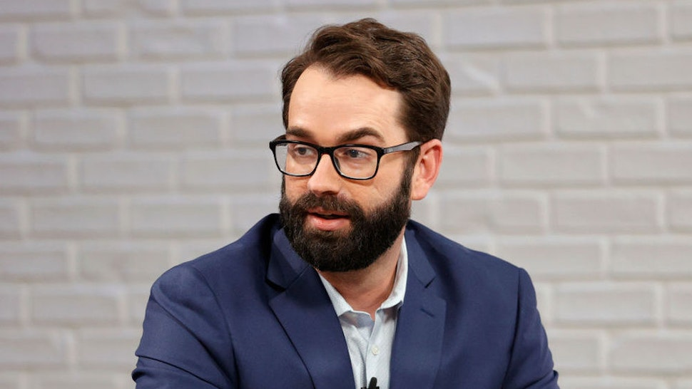 """NASHVILLE, TENNESSEE - AUGUST 09: Matt Walsh visits the """"Candace"""" Hosted By Candace Owens show on August 09, 2021 in Nashville, Tennessee. The show will air on Tuesday, August 10, 2021. (Photo by Jason Kempin/Getty Images)"""