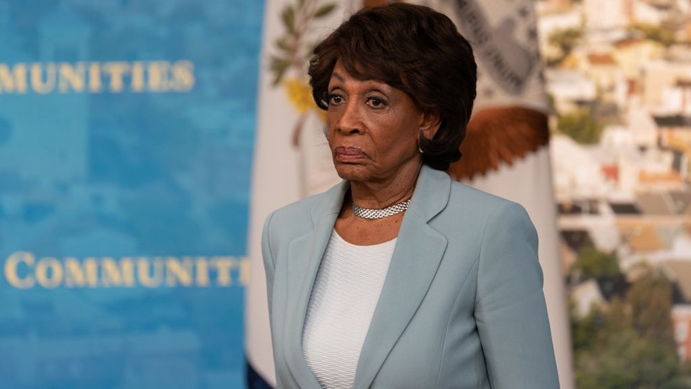 Representative Maxine Waters, a Democrat from California, listens during an event in the Eisenhower Executive Office Building in Washington, D.C., U.S., on Tuesday, June 15, 2021.