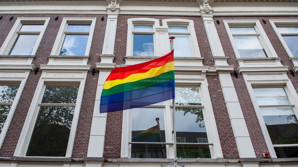 Several streets in the center of Amsterdam have been decorated with rainbow flags, during the Pride month celebrations in Amsterdam, on August 3rd, 2021.