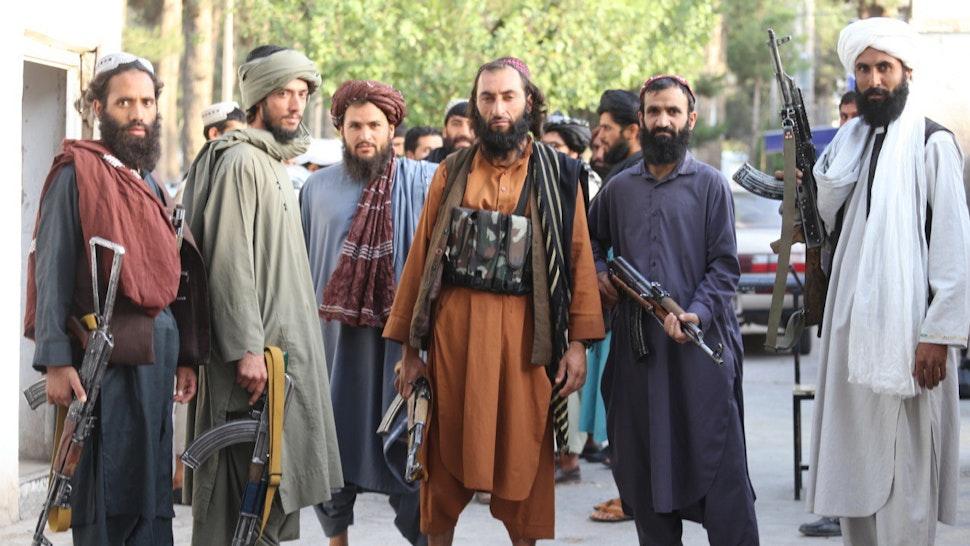 HERAT, AFGHANISTAN - AUGUST 18: Taliban patrol in Herat city after took control in Herat, Afghanistan, on August 18, 2021 as Taliban take control of Afghanistan after 20 years.
