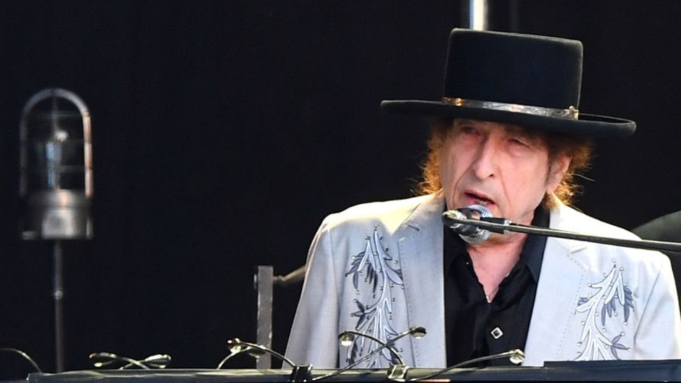 LONDON, ENGLAND - JULY 12: Bob Dylan performs on a double bill with Neil Young at Hyde Park on July 12, 2019 in London, England. (Photo by