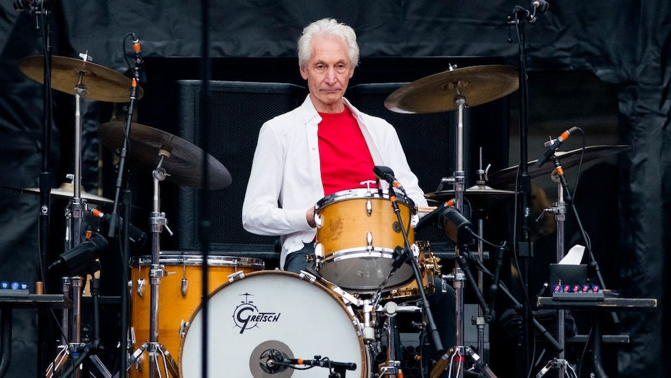 SOUTHAMPTON, ENGLAND - MAY 29: Charlie Watts of the Rolling Stones performs live on stage at St Mary's Stadium on May 29, 2018 in Southampton, England. (Photo by