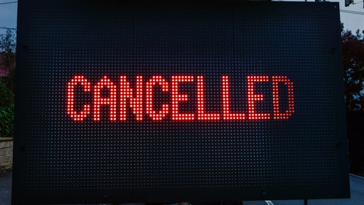 Canceled sign.