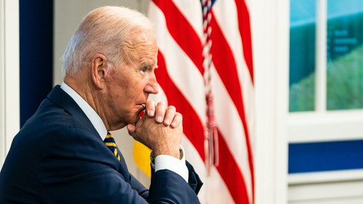 WASHINGTON, DC September 17, 2021: US President Joe Biden during the Major Economies Forum on Energy and Climate (MEF) to galvanize efforts to confront the global climate crisis in the South Court Auditorium at the White House on September 17, 2021.